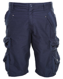 St Goliath Marlined Cargo Shorts Navy