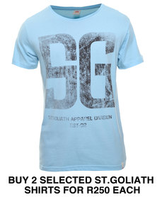 St Goliath Up Front Tee Blue