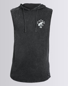 St Goliath Roamin Hooded Muscle Top Black