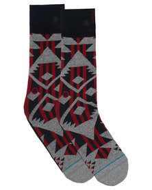 Stance Lowlands Socks Red