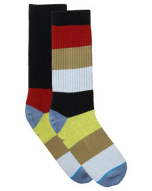 Stance Estella Athletic Light Stripe Socks Multi