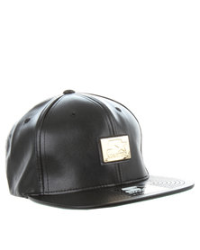 Starter Gold Snap Back Cap Black