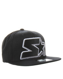 Starter Star Snap Back Cap Black