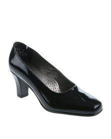 Step On Airs Tess Leather Court Shoe Black