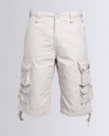 Stephen Premium Cargo Shorts Stone