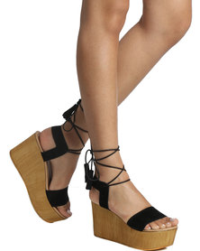 Steve Madden Shannon Wedge Platforms Black