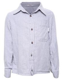 Sticky Fudge Rio Stripe Shirt Blue