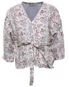 Sticky Fudge Scarlet Kimono Multi