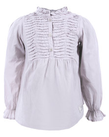 Sticky Fudge Aurora Blouse Grey