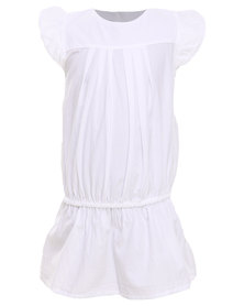 Sticky Fudge Amy Dress White
