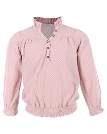 Sticky Fudge Sadie Blouse Pink
