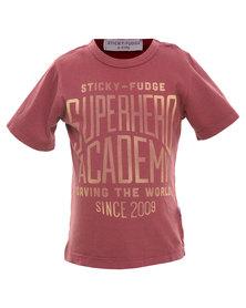 Sticky Fudge Kyle Tee Red