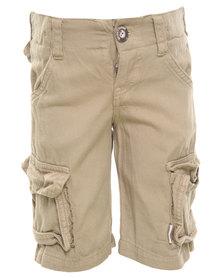 Sticky Fudge Parker Shorts Khaki