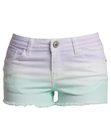 Suite Blanco Tie Dye Denim Shorts Multi-coloured