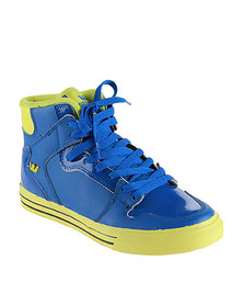Supra Vaider High-top Sneaker Royal Blue & Yellow Action