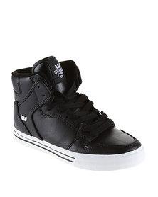 Supra Vaider High-Top Sneaker Black Action & White