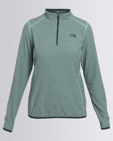 The North Face 100 Glacier 1/4 Zip Sweatshirt Green