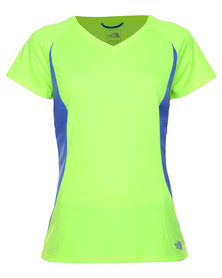 The North Face Reflex V-Neck Tee Yellow-Green