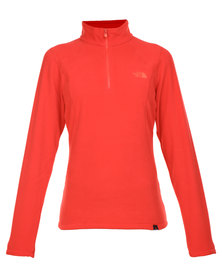 The North Face 100 Glacier 1/4 Zip Sweatshirt Red