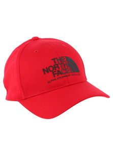 The North Face High Density Ball Cap Tfn Red and Black