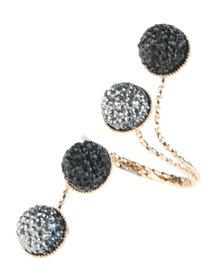 The Ramp Diamante Multi-Ball Ring Gold-Tone/Black