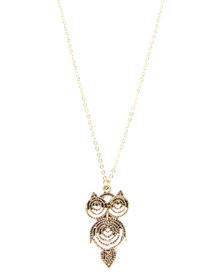 The Ramp Owl Necklace Gold-Tone