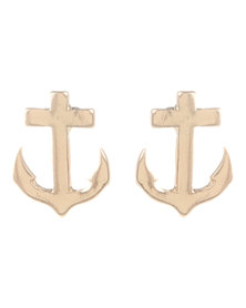 The Ramp Anchor Earrings Gold-Tone