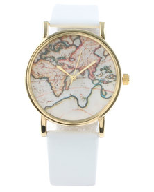 The Ramp World Map Watch White