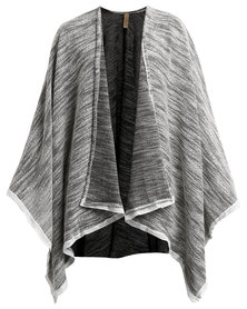 theHive Styled Poncho Lace Grey