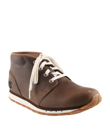Timberland Ek Somerville Chukka Leather Lace Up Sneakers