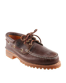 Timberland Traditional Heritage 3-Eye Lug Leather Lace Up Shoes Brown