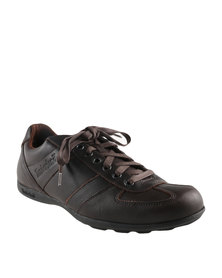 Timberland Ek Low Profile Oxford Leather Lace Up Shoes Dark Brown