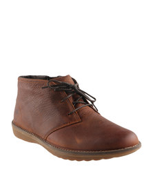 Timberland Front Country Travel Chukka Leather Lace Ups Red Brown