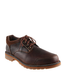Timberland Larchmont Oxford Leather Lace Ups Red Brown