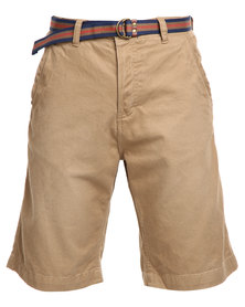 Tokyo Laundry Armel Shorts Bronze