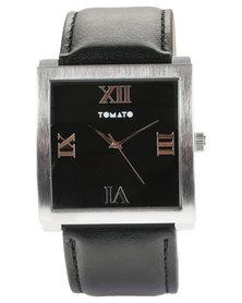 Tomato Square Dial Watch Black