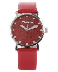 Tomato Stud Dial Watch Red