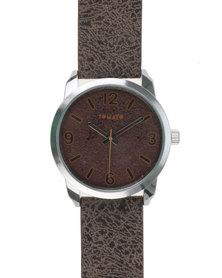 Tomato Case Brown Dial With Strap Watch Brown