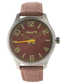 Tomato Brown Dial Watch Brown