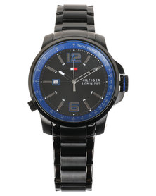Tommy Hilfiger Brandon Mens Watch With Metal Strap Black