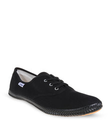 Tomy Lace Up Canvas Sneakers Black