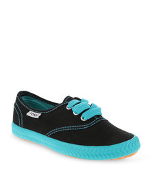 Tomy Children's Original Canvas Sneakers Black and Blue