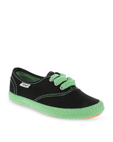 Tomy Children's Original Canvas Sneakers Black and Green