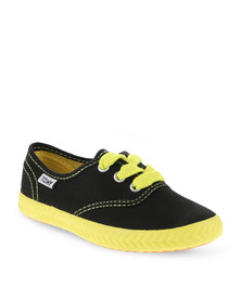 Tomy Children's Original Canvas Shoes Black and Yellow