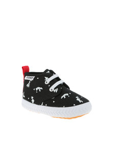 Tomy Kids High Top Origanum Sneakers Black with White