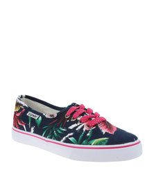 Tomy Takkies Superior Sneakers Tropical Print Navy