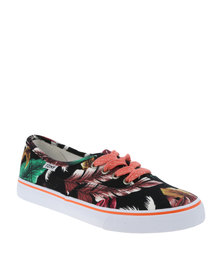 Tomy Takkies Superior Tomy Tropical Print Black