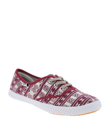 Tomy Takkies Original Tribal Print Tomy Grape