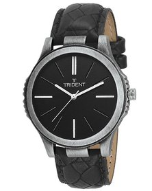 Trident Auckland Mens Watch Black PU Leather Strap