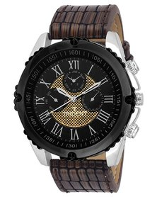 Trident Mendoza Mens Watch Brown PU Leather Strap